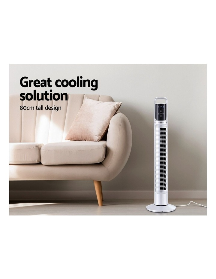 80cm 32 Tower Fan Bladeless Fans Oscillating W/Remote Timer White image 2