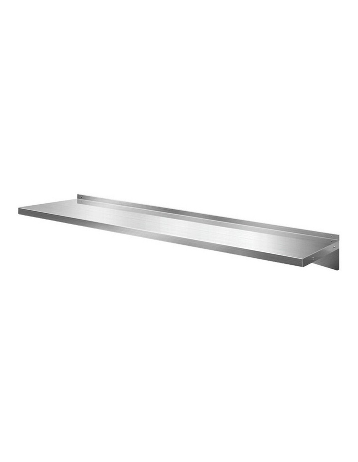 Stainless Steel Wall Shelf Kitchen Shelves Rack Mounted Display Shelving 2100mm image 1