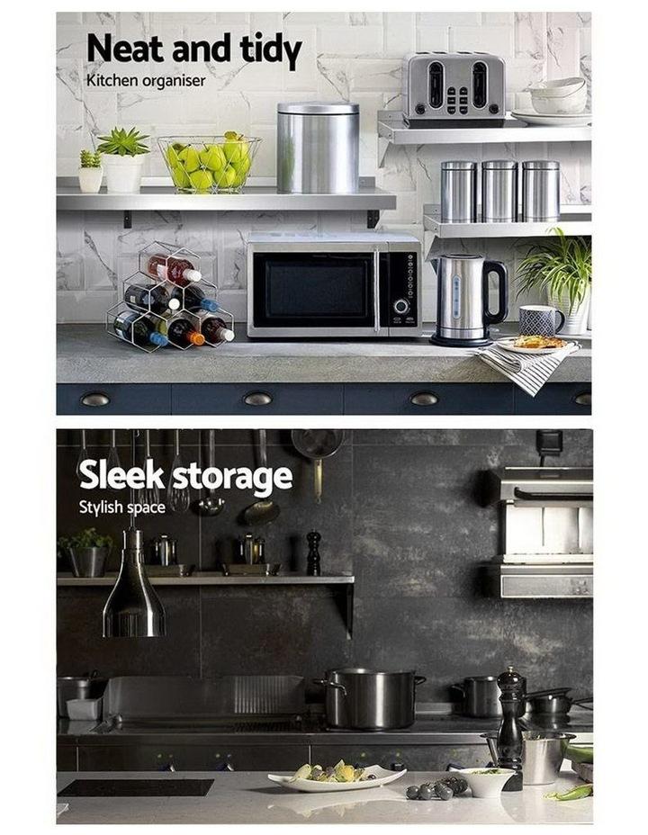 Stainless Steel Wall Shelf Kitchen Shelves Rack Mounted Display Shelving 2100mm image 3