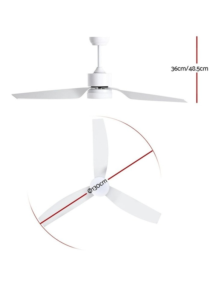 52'' DC Motor Ceiling Fan w/LED Light w/Remote 8H Timer Reverse Mode 5 Speeds image 2