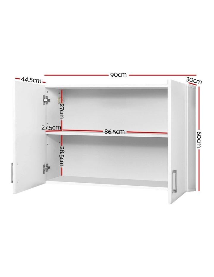 Bathroom Kitchen Bedroom Cabinet Storage Unit Cupboard Organizer White image 2