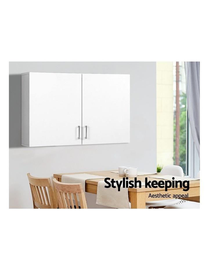 Bathroom Kitchen Bedroom Cabinet Storage Unit Cupboard Organizer White image 3