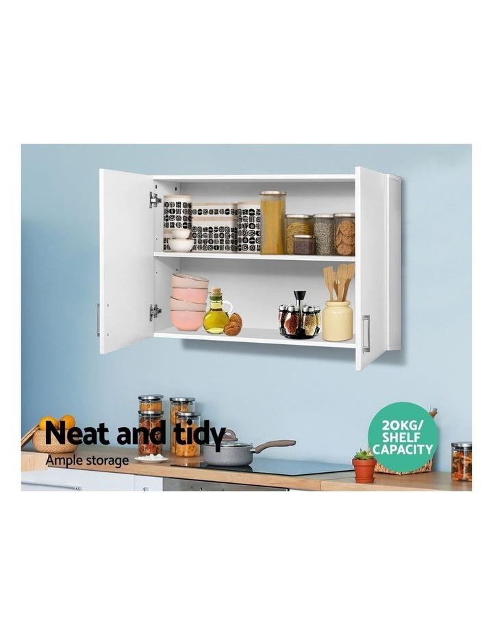 Bathroom Kitchen Bedroom Cabinet Storage Unit Cupboard Organizer White image 4