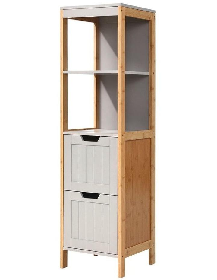 Bathroom Cabinet Tallboy Furniture Toilet Storage Laundry Cupboard 115cm image 1