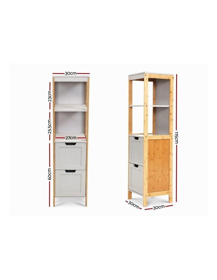 Bathroom Cabinet Tallboy Furniture Toilet Storage Laundry Cupboard 115cm image 2