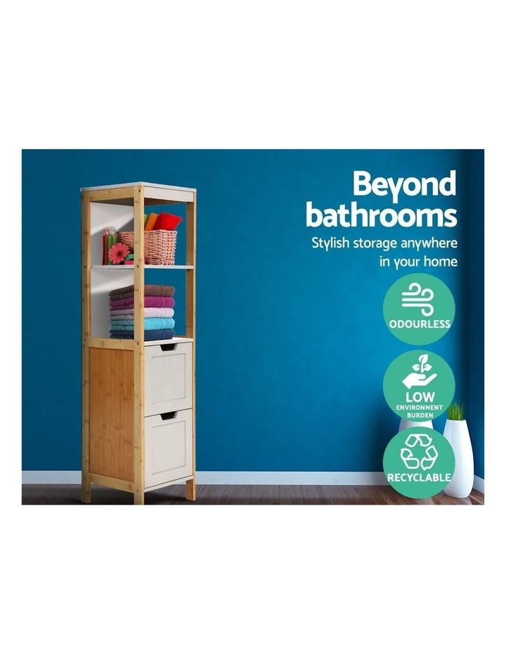 Bathroom Cabinet Tallboy Furniture Toilet Storage Laundry Cupboard 115cm image 4