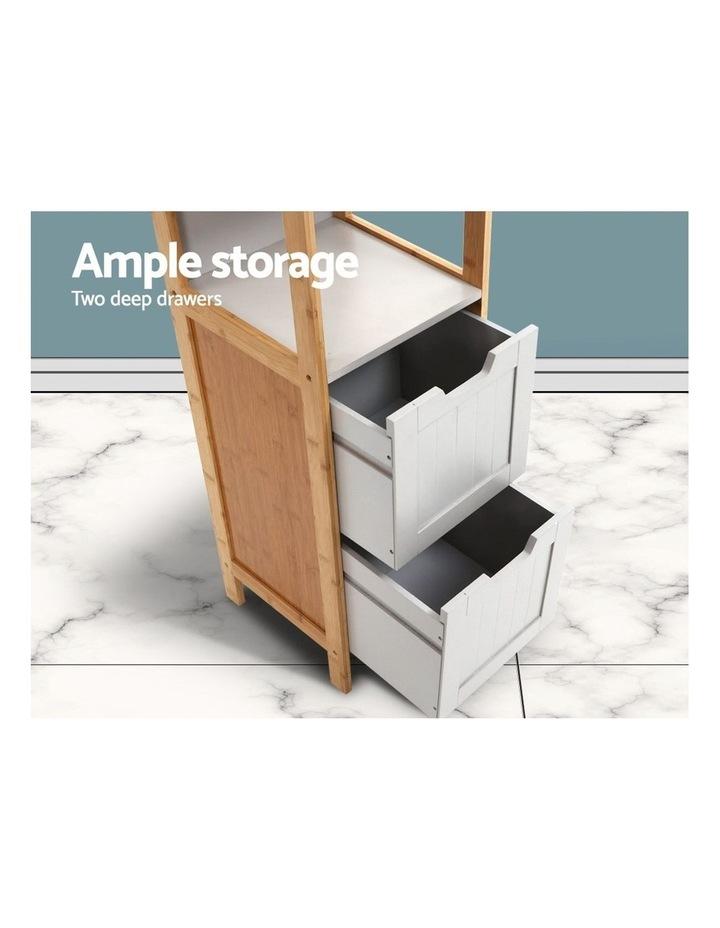 Bathroom Cabinet Tallboy Furniture Toilet Storage Laundry Cupboard 115cm image 6