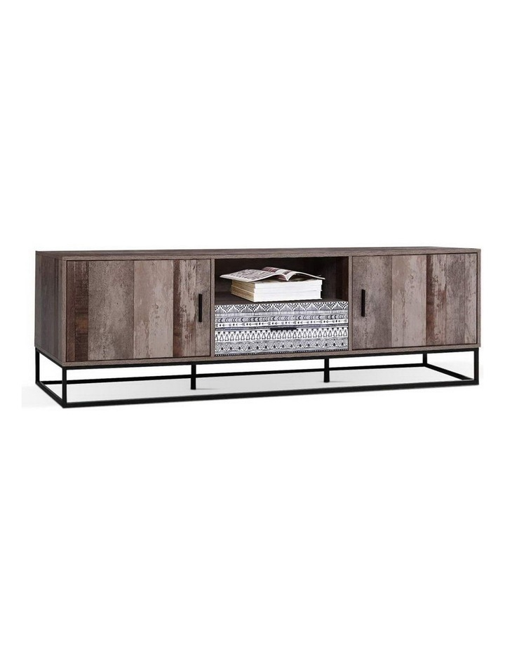 TV Cabinet Entertainment Unit Stand Storage Wooden Industrial Rustic 180cm image 1