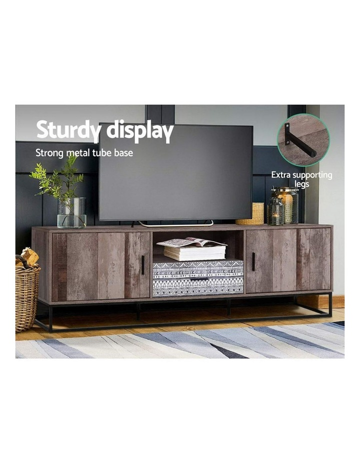 TV Cabinet Entertainment Unit Stand Storage Wooden Industrial Rustic 180cm image 6