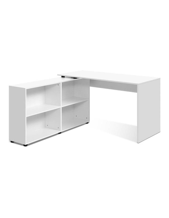 Office Computer Desk Corner Study Table Workstation Bookcase Storage image 1
