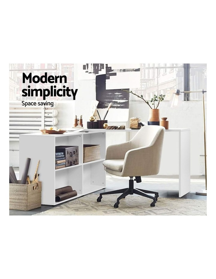 Office Computer Desk Corner Study Table Workstation Bookcase Storage image 3