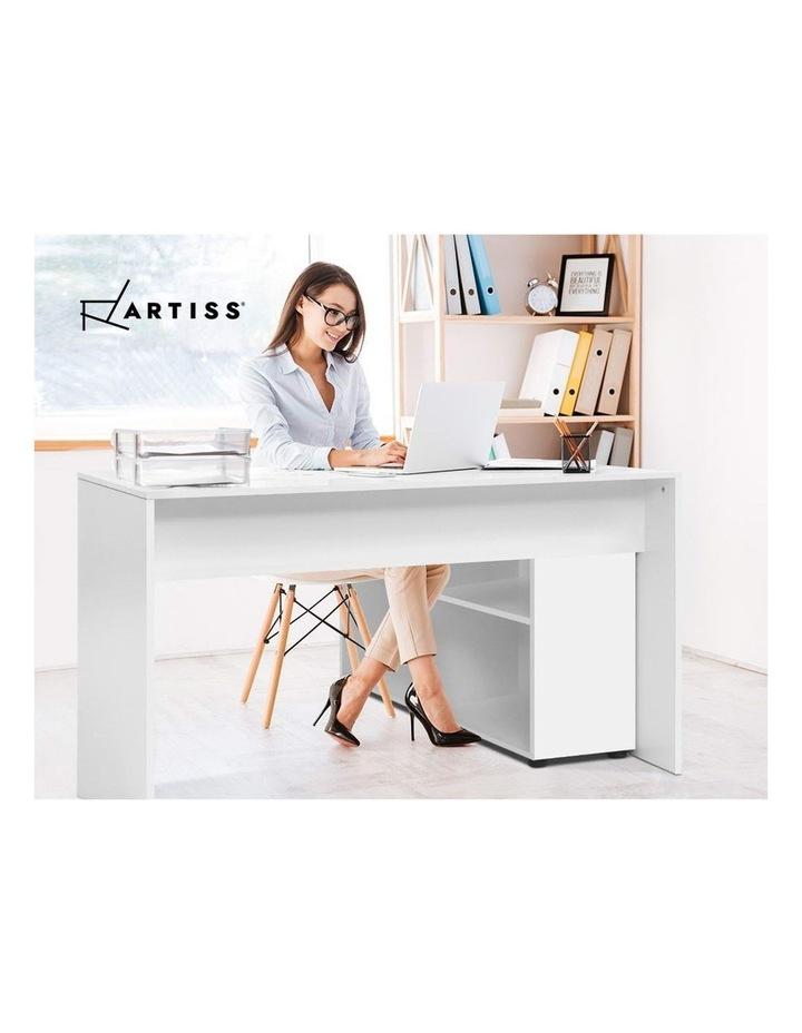 Office Computer Desk Corner Study Table Workstation Bookcase Storage image 6