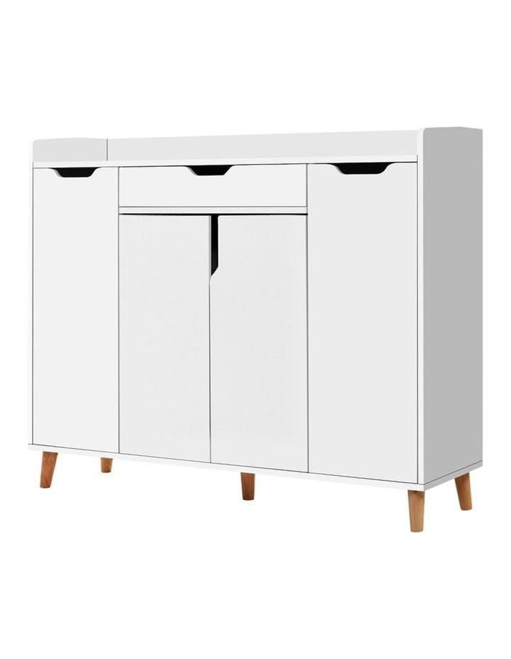 Shoe Cabinet Shoes Storage Rack 120cm Organiser White Drawer Cupboard image 1