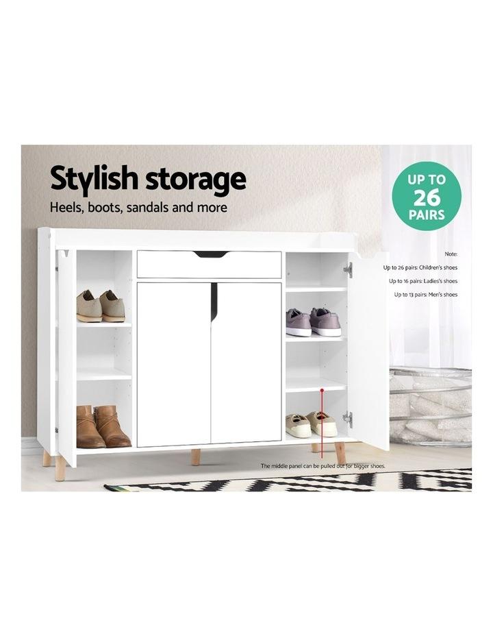 Shoe Cabinet Shoes Storage Rack 120cm Organiser White Drawer Cupboard image 3