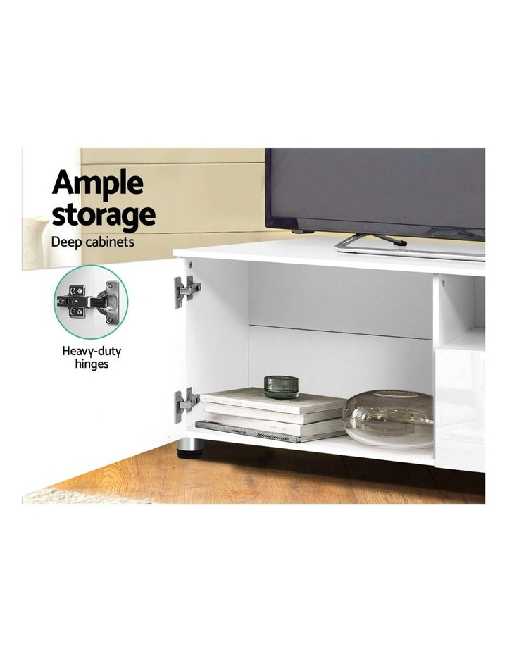 TV Cabinet Entertainment Unit Stand High Gloss Furniture 205cm White image 5