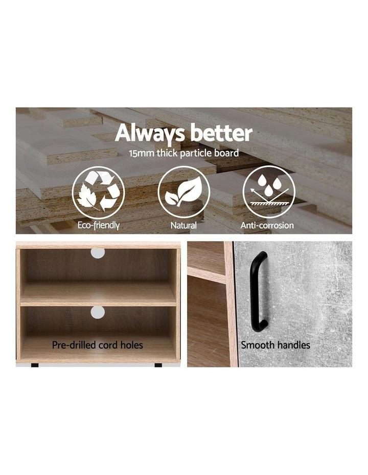 TV Cabinet Entertainment Unit Stand Industrial Wooden Metal Legs Oak image 4