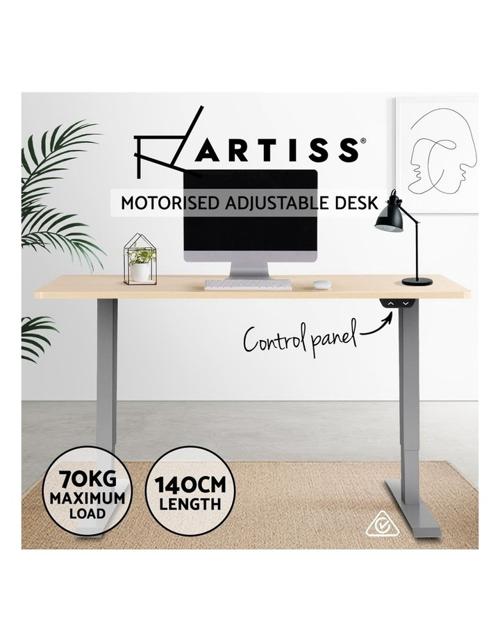 Standing Desk Height Adjustable Sit Stand Laptop Computer Table Motorised Electric Frame Riser 140cm image 3