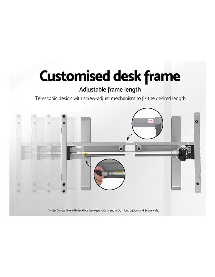 Standing Desk Height Adjustable Sit Stand Laptop Computer Table Motorised Electric Frame Riser 140cm image 4