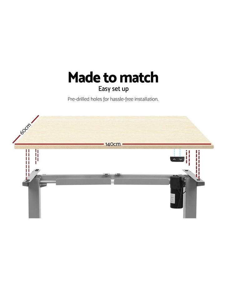 Standing Desk Height Adjustable Sit Stand Laptop Computer Table Motorised Electric Frame Riser 140cm image 5