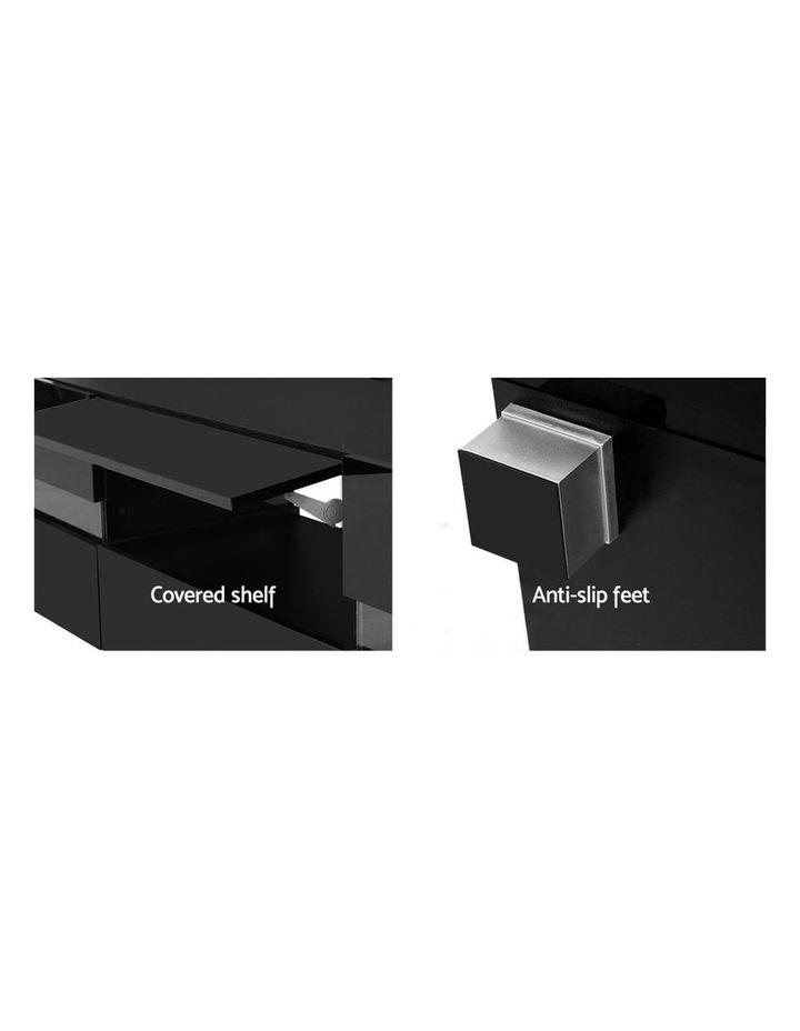 TV Cabinet Entertainment Unit Stand RGB LED Gloss Furniture 177cm Black image 6