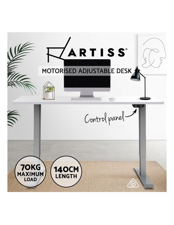 Standing Desk Height Adjustable Motorised Electric Sit Stand Computer Table 140cm image 2
