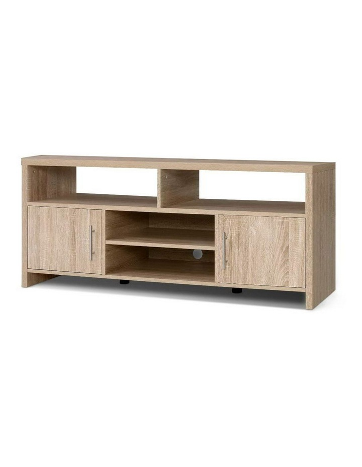 TV Cabinet Entertainment Unit Stand Storage Shelf Sideboard 140cm Oak image 1