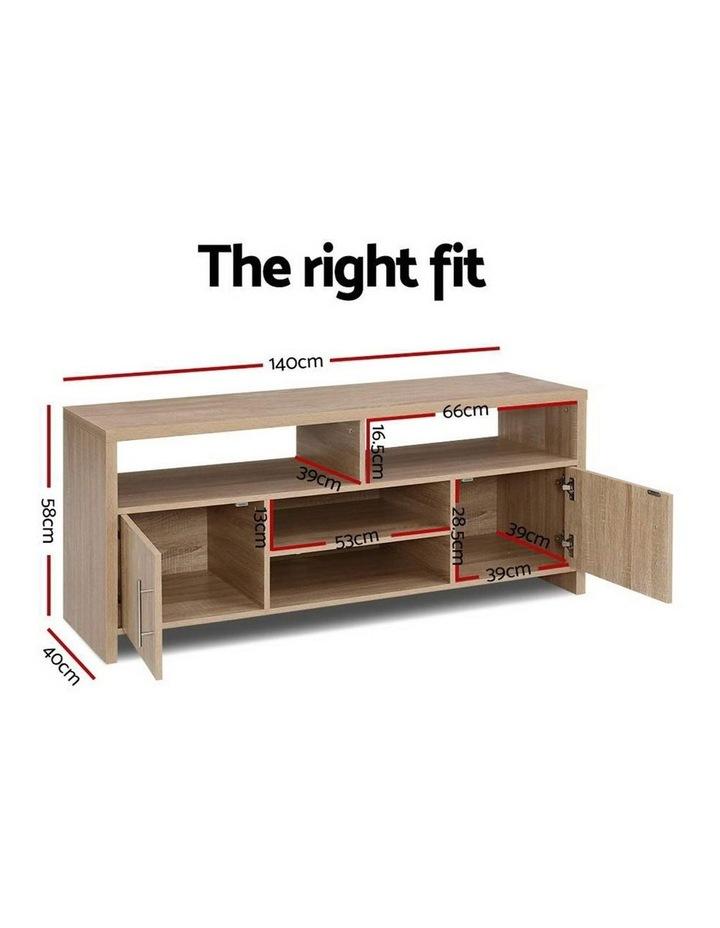TV Cabinet Entertainment Unit Stand Storage Shelf Sideboard 140cm Oak image 2