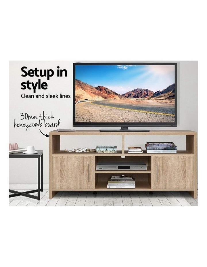 TV Cabinet Entertainment Unit Stand Storage Shelf Sideboard 140cm Oak image 3