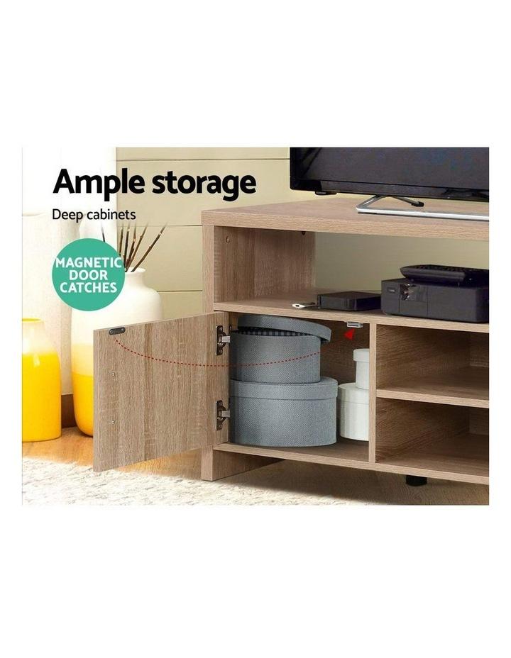 TV Cabinet Entertainment Unit Stand Storage Shelf Sideboard 140cm Oak image 4