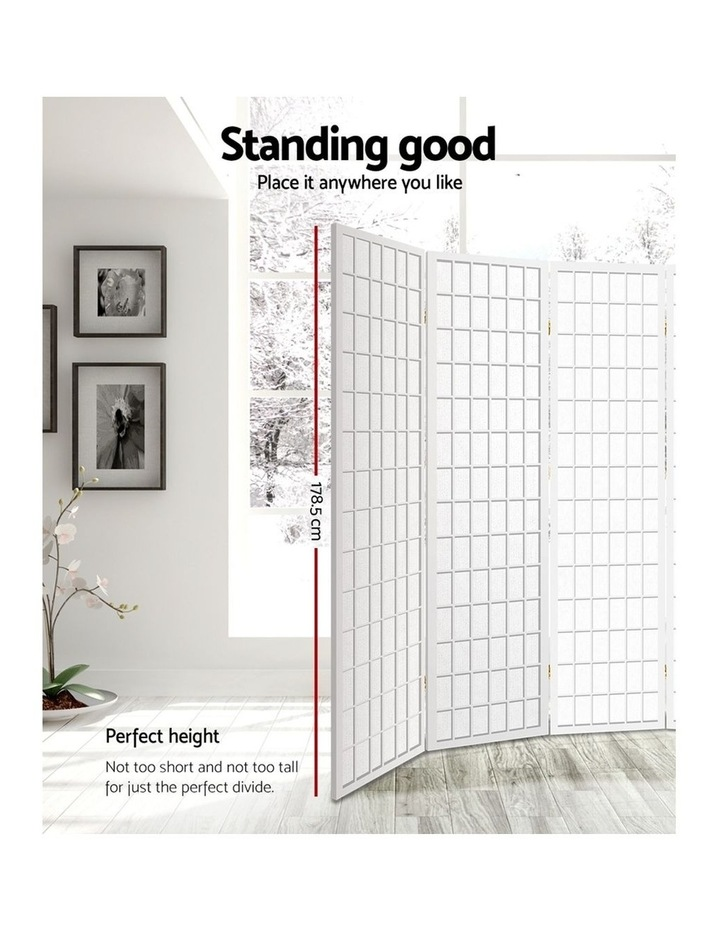 8 Panel Room Divider Screen Privacy Dividers Stand Oriental Vintage White image 3