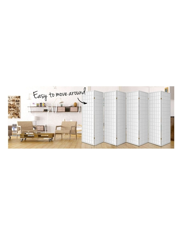 8 Panel Room Divider Screen Privacy Dividers Stand Oriental Vintage White image 5