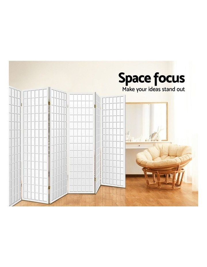 8 Panel Room Divider Screen Privacy Dividers Stand Oriental Vintage White image 6