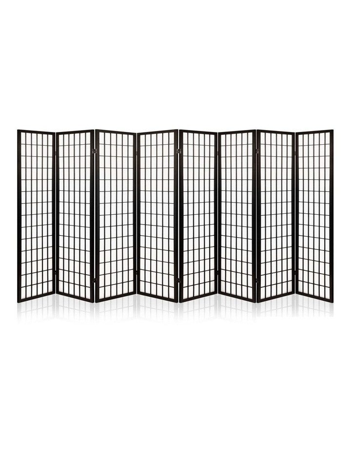 8 Panel Room Divider Screen Privacy Dividers Stand Oriental Vintage Black image 1