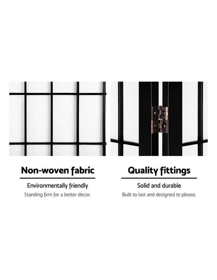 8 Panel Room Divider Screen Privacy Dividers Stand Oriental Vintage Black image 4