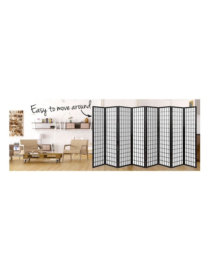 8 Panel Room Divider Screen Privacy Dividers Stand Oriental Vintage Black image 5