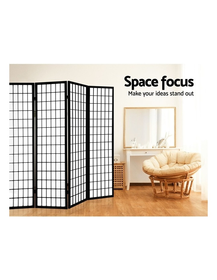 8 Panel Room Divider Screen Privacy Dividers Stand Oriental Vintage Black image 6