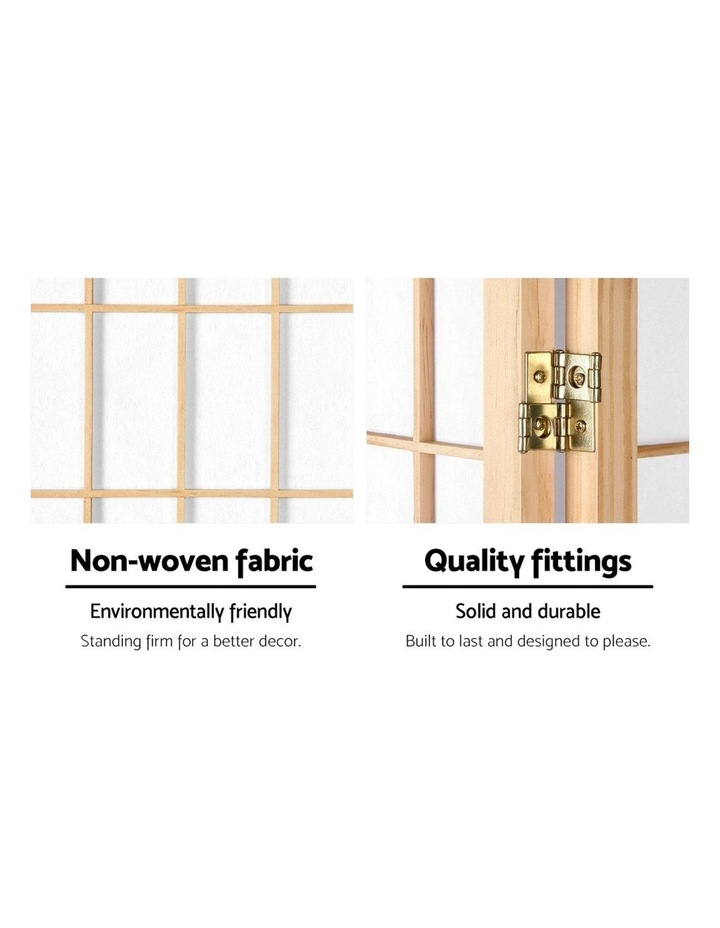 8 Panel Room Divider Screen Privacy Dividers Wood Stand Oriental Natural image 4