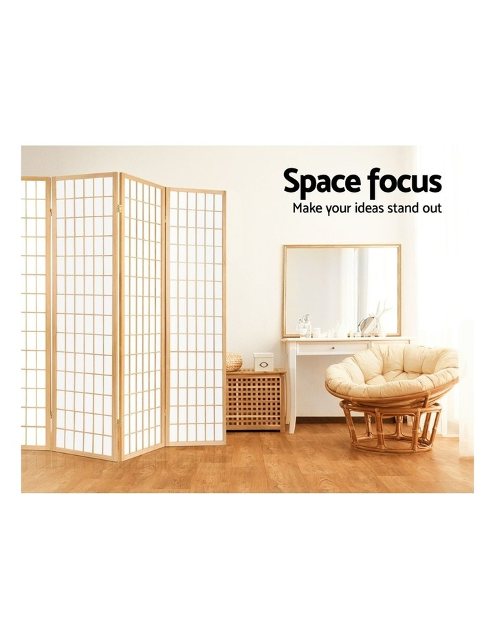 8 Panel Room Divider Screen Privacy Dividers Wood Stand Oriental Natural image 6