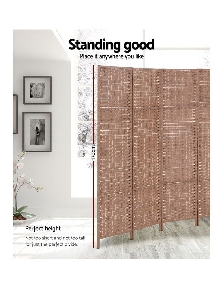 6 Panel Room Divider Screen Privacy Rattan Timber Foldable Dividers Stand Hand Woven image 4