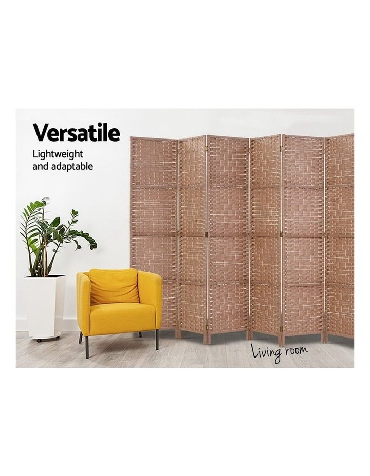 6 Panel Room Divider Screen Privacy Rattan Timber Foldable Dividers Stand Hand Woven image 5