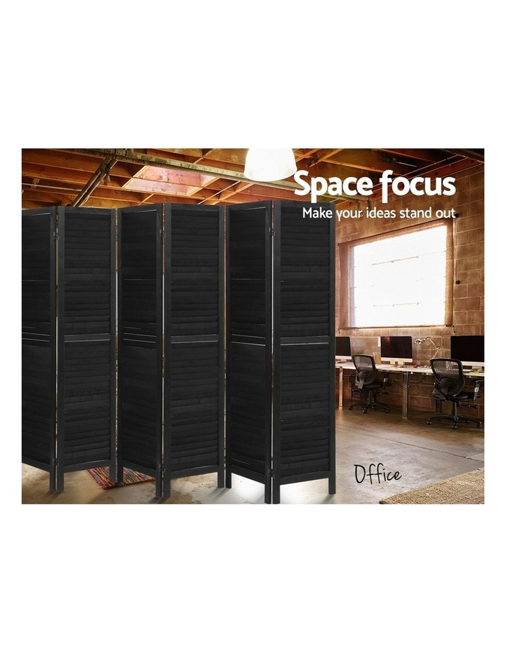 6 Panel Room Divider Screen Privacy Wood Dividers Timber Stand Black image 6