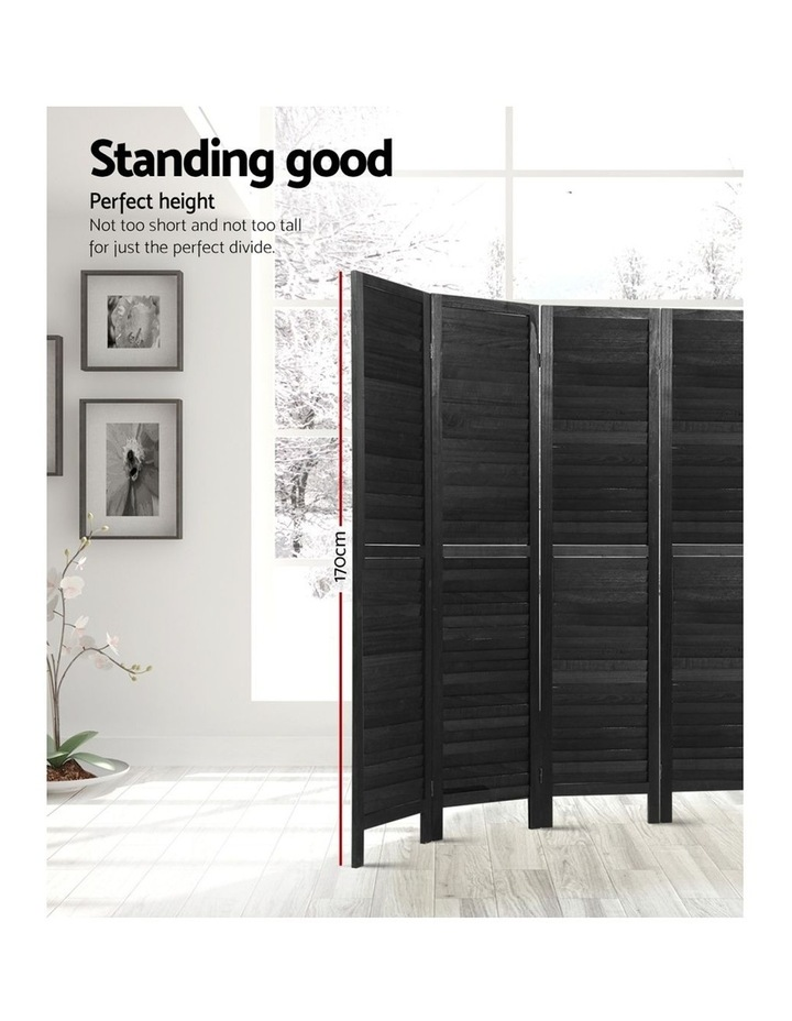 8 Panel Room Divider Screen Privacy Wood Dividers Timber Stand Black image 3