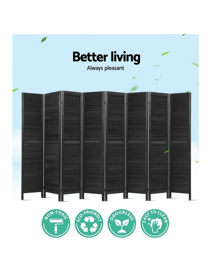 8 Panel Room Divider Screen Privacy Wood Dividers Timber Stand Black image 4