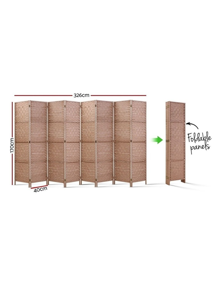 8 Panel Room Divider Screen Privacy Rattan Timber Foldable Dividers Stand Hand Woven image 2