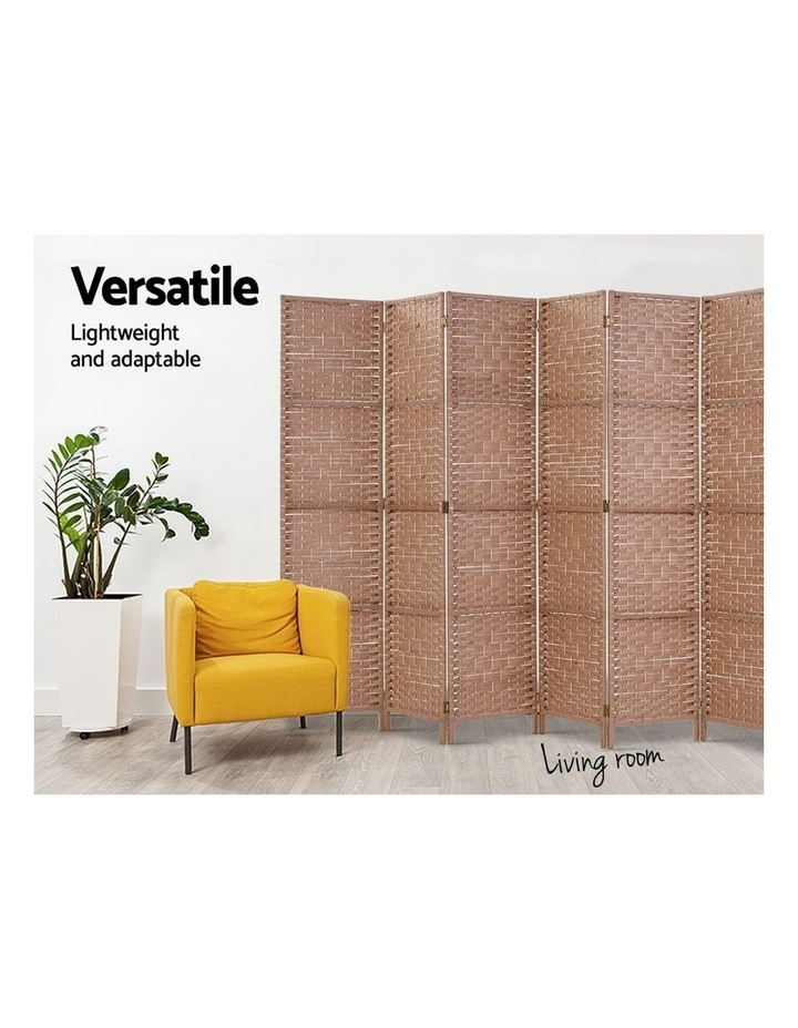 8 Panel Room Divider Screen Privacy Rattan Timber Foldable Dividers Stand Hand Woven image 5