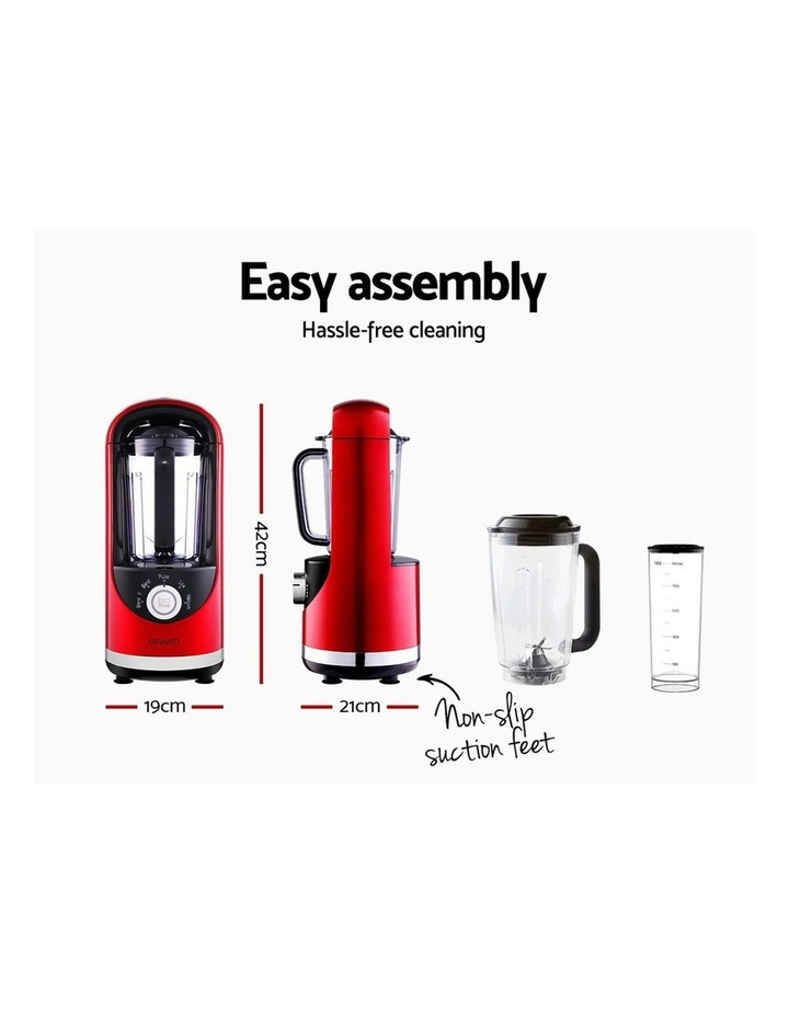 Vacuum Blender Commercial Juicer Mixer Food Processor Ice Crush Red image 2