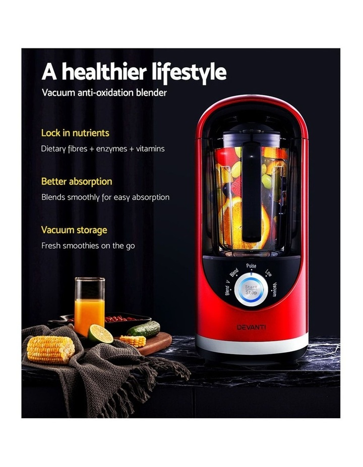 Vacuum Blender Commercial Juicer Mixer Food Processor Ice Crush Red image 4