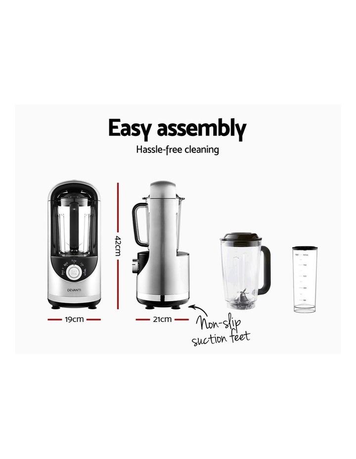 Commercial Vacuum Blender Juicer Mixer Food Processor Smoothie Silver image 2