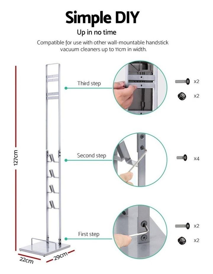 Freestanding Dyson Vacuum Stand Rack Holder Cordless Handheld Cleaner V6 7 8 V10 V11 Silver image 2