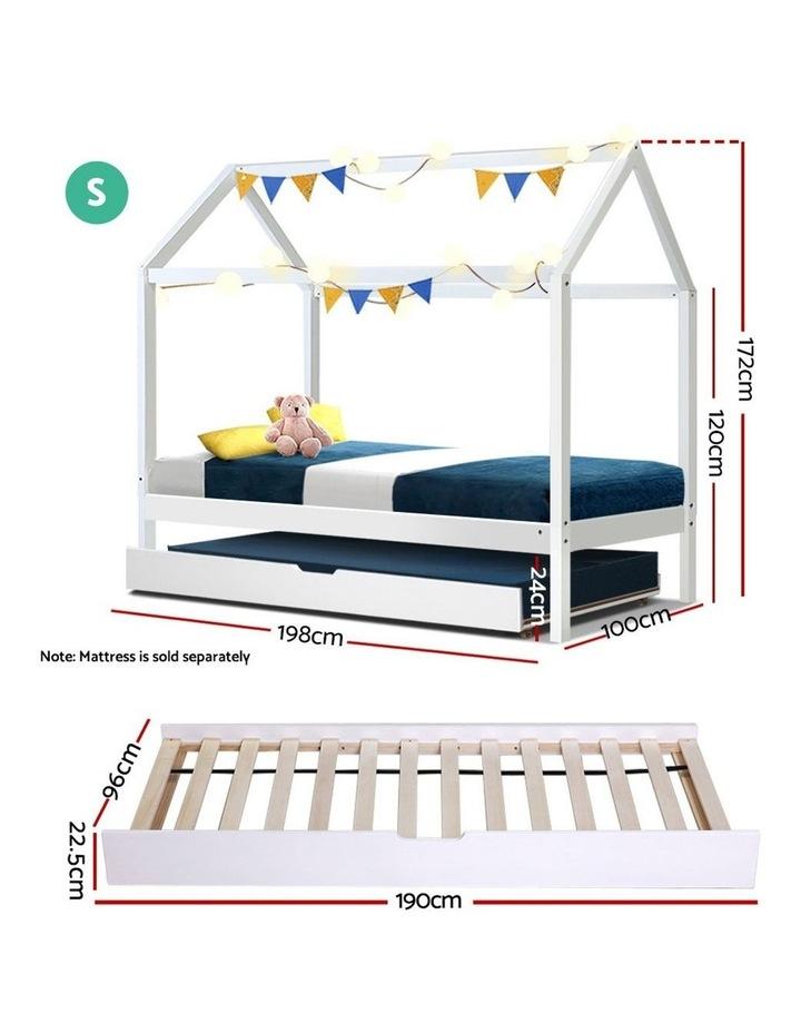 Wooden Bed Frame Single Size Mattress Base Pine Timber Platform White HOLY image 2